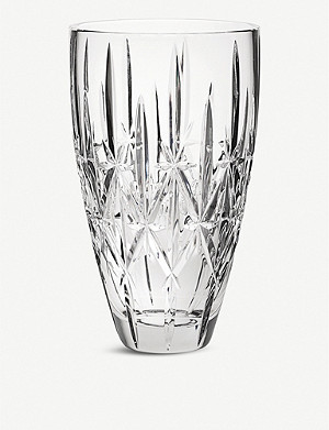 WATERFORD Marquis Sparkle crystal vase 23cm
