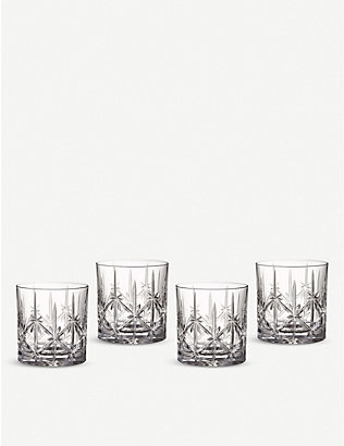 WATERFORD: Marquis Sparkle crystal tumblers set of four