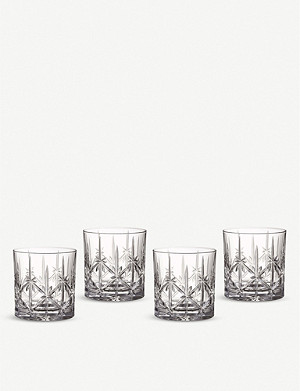 WATERFORD Marquis Sparkle crystal tumblers set of four