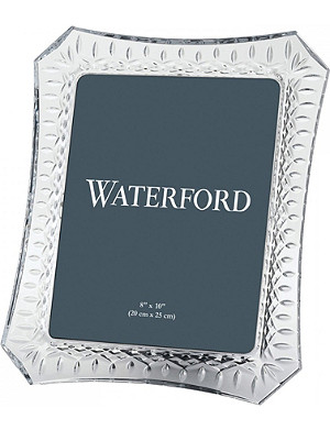 WATERFORD Lismore crystal photo frame 8x10inch