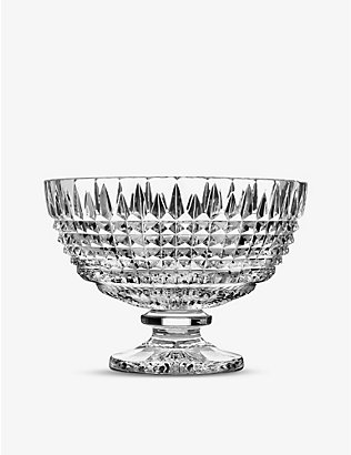 WATERFORD: Lismore Diamond stemmed crystal bowl