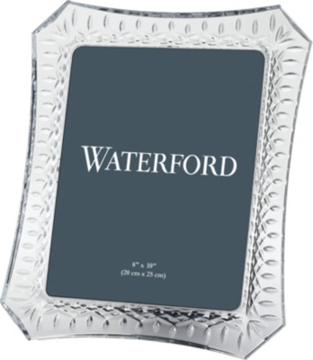 "WATERFORD Lismore crystal picture frame 8"" x 10"""