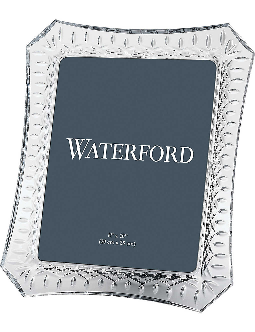 "WATERFORD: Lismore crystal picture frame 8"" x 10"""