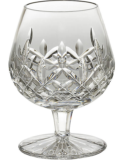 WATERFORD: Lismore crystal brandy glass