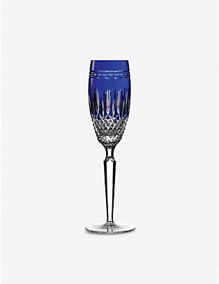 WATERFORD: Clarendon cobalt champagne flutes set of two