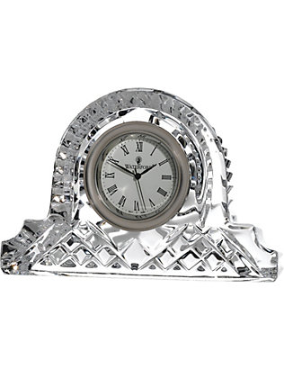 WATERFORD: Lismore crystal cottage clock 12cm