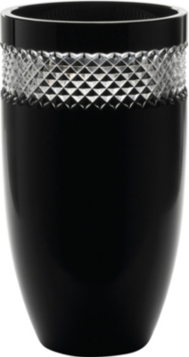 JOHN ROCHA @ WATERFORD Black Cut crystal vase