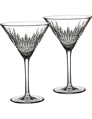 WATERFORD: Lismore Diamond Martini glasses set of two