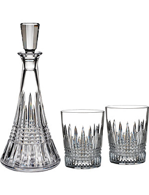 WATERFORD Lismore diamond-pattern decanter set