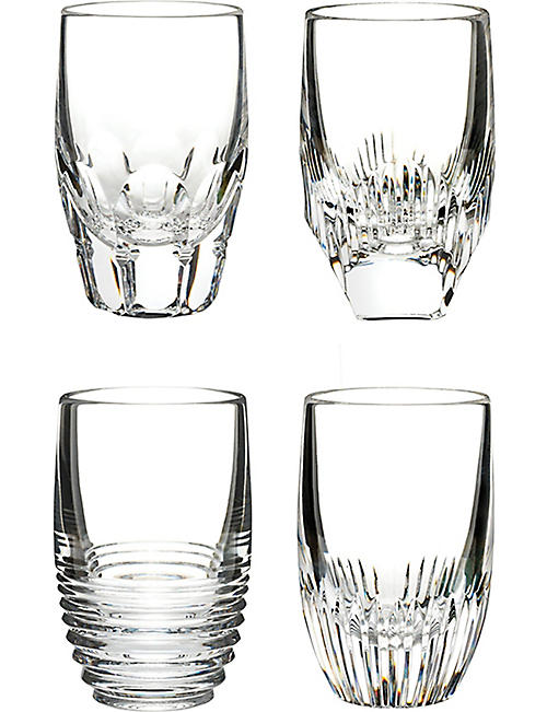 WATERFORD Mixology set-of-four crystal shot glasses
