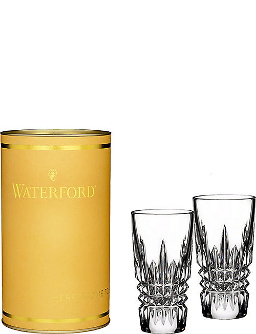 WATERFORD Lismore pair of shot glasses