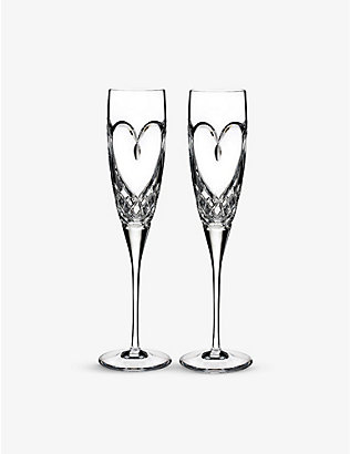 WATERFORD: True Love champagne flutes set of two
