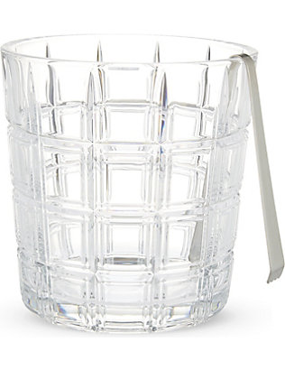 WATERFORD: Marquis ice bucket & tongs set