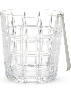 WATERFORD Marquis ice bucket & tongs set