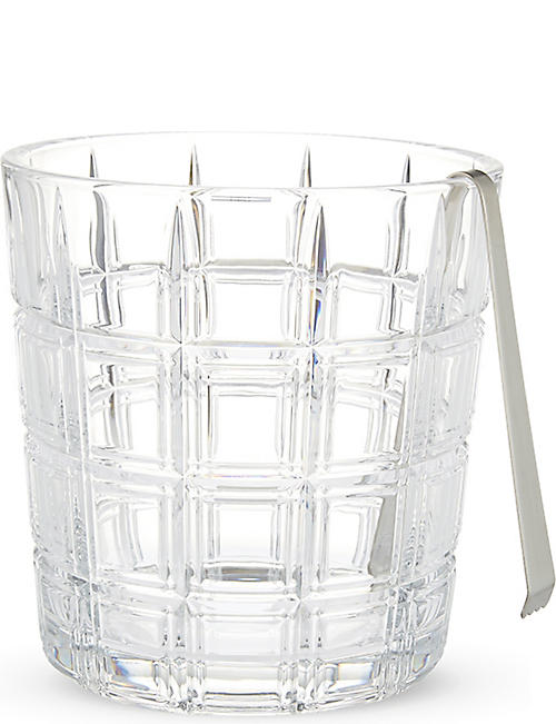 WATERFORD: Marquis Crosby ice bucket with tongs
