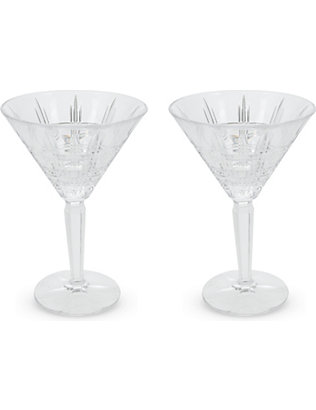WATERFORD: Marquis crosby martini set 2 pieces