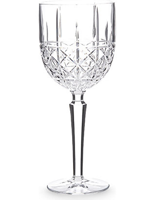 WATERFORD: Marquis Brady crystalline goblets set of 4