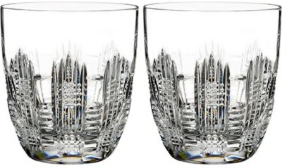 WATERFORD Dungarvan set of two double old fashioned glasses