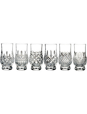WATERFORD Lismore Connoisseur Heritage footed tasting tumblers (set of 6)