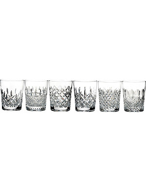 WATERFORD Lismore Connoisseur Heritage Double Old Fashioned tumblers (set of 6)