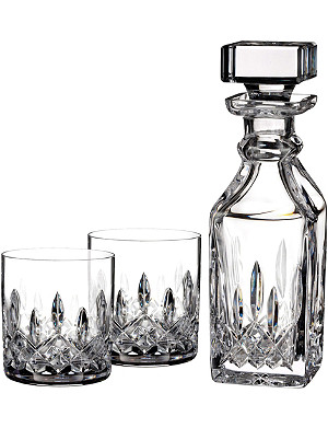 WATERFORD Lismore Connoisseur small square decanter set
