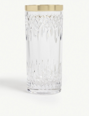 WATERFORD Lismore Short Stories Reflection crystal vase 30cm