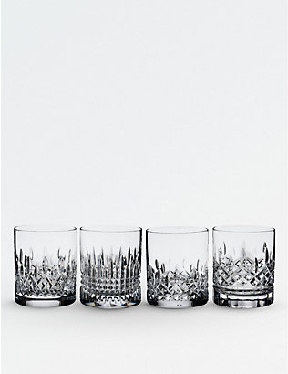 WATERFORD: Lismore Evolution crystal tumblers 355ml set of four