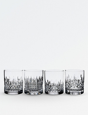WATERFORD Lismore Evolution crystal tumblers 355ml set of four