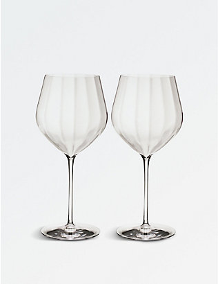 WATERFORD: Elegance Optic Cabernet Sauvignon crystal wine glasses set of two