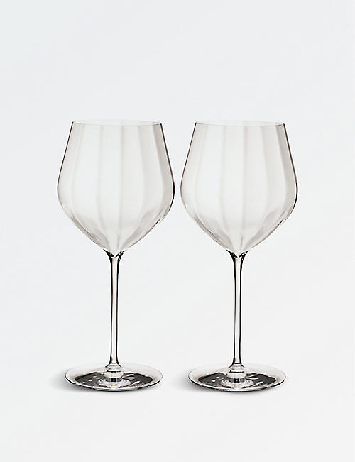 WATERFORD Elegance Optic Cabernet Sauvignon crystal wine glasses set of two