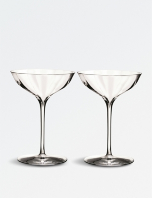Waterford Elegance Optic Belle Coupe Champagne Glasses Set Of Two Selfridges Com