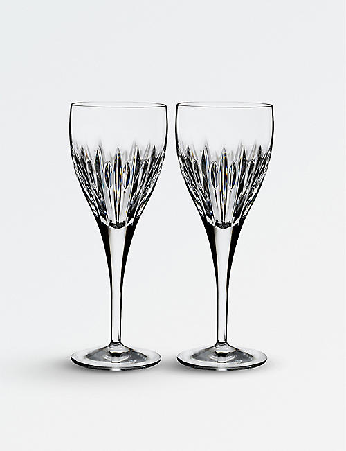 WATERFORD: Ardan Mara crystal wine glasses set of two