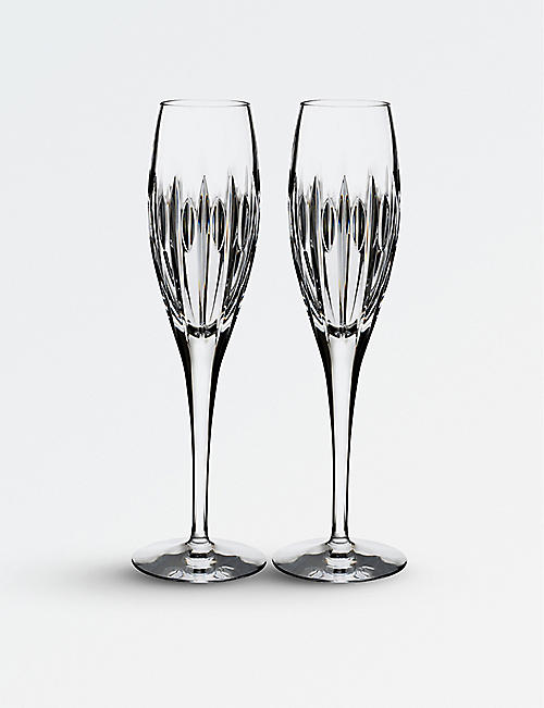 WATERFORD: Ardan Mara crystal flutes set of two