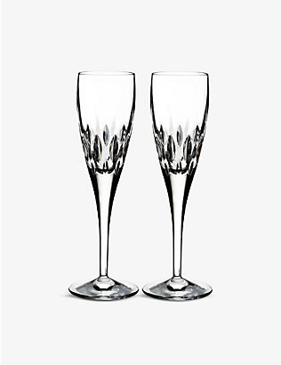 WATERFORD: Enis champagne flutes set of two