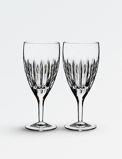 WATERFORD Set of two Arden Mara crystal beverage glasses