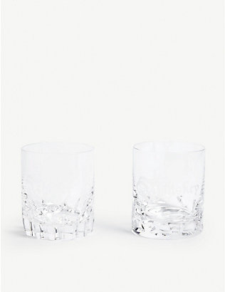 WATERFORD: Lismore Short Stories whiskey and water tumblers set of two