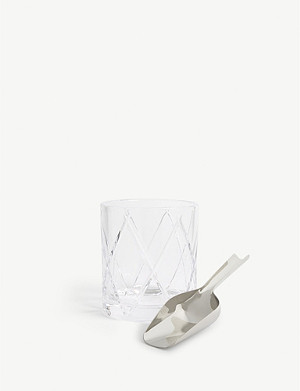 WATERFORD Olann crystal ice bucket and scoop