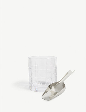 WATERFORD Cluin crystal ice bucket and scoop