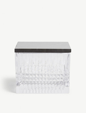 WATERFORD Lismore crystal glass box