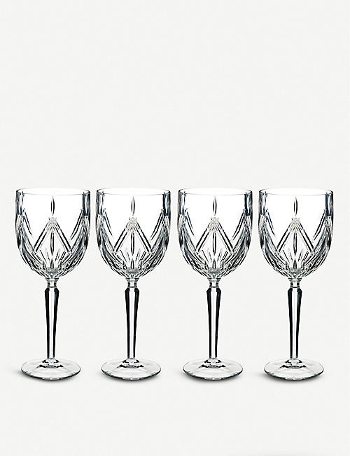 WATERFORD Marquis Lacey crystal wine glasses set of 4