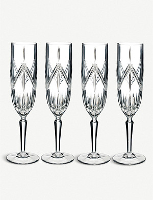 WATERFORD Marquis Lacey crystal flutes set of 4