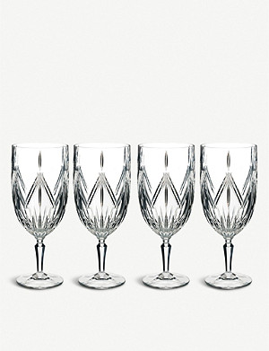 WATERFORD Marquis Lacey crystal ice beverage glasses set of 4