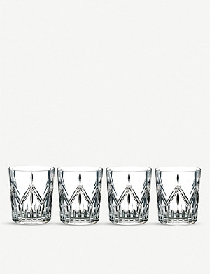 WATERFORD Marquis Lacey crystal tumblers set of four