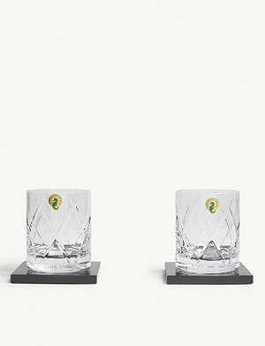 WATERFORD Short Stories Olann double tumbler and coaster set