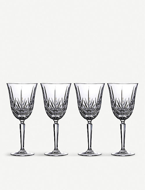 WATERFORD: Marquis Maxwell crystal goblets set of four