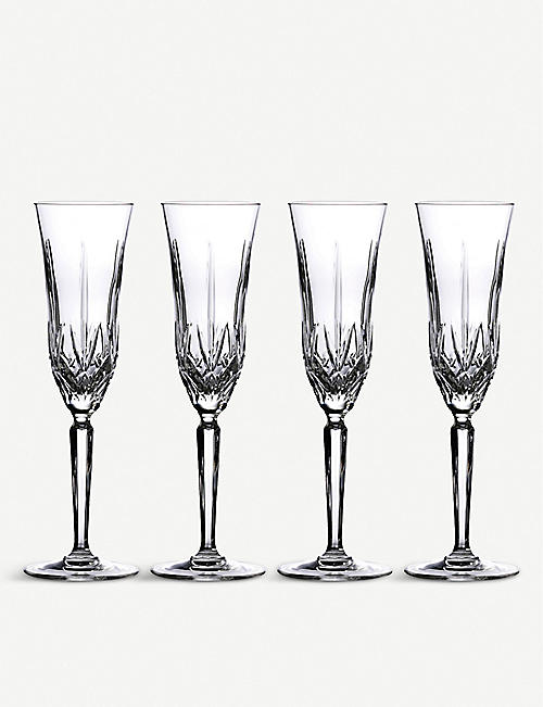 WATERFORD: Marquis crystal toasting flutes set of four