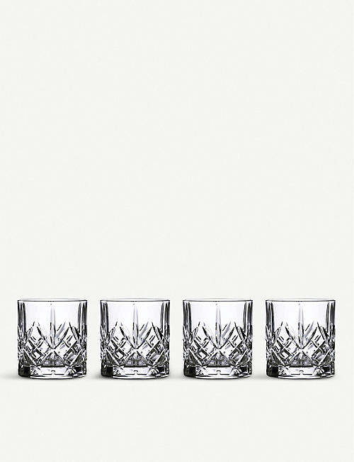 WATERFORD: Marquis Maxwell crystal tumblers set of four