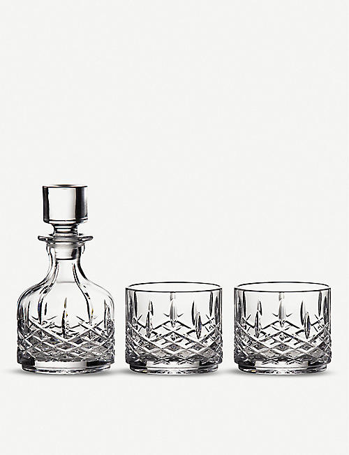 WATERFORD: Marquis Markham stacking decanter and tumbler set