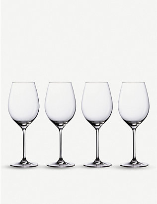 WATERFORD: Marquis Moments crystal glass red wine glasses set of four