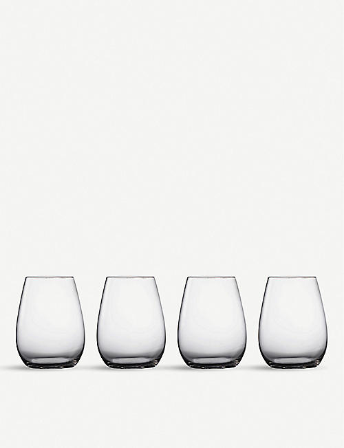 WATERFORD: Marquis Moments stemless wine glasses set of four